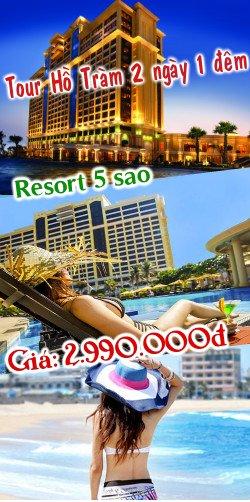 Tour Hồ Tràm 2 ngày 1 đêm - Resort The Grand Hồ Tràm Strip
